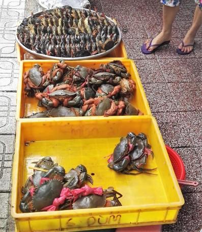 Stand de crabes Ben Thanh Market