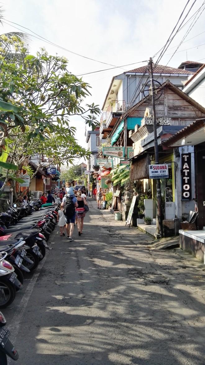 Rues d'Ubud à Bali Indonésie