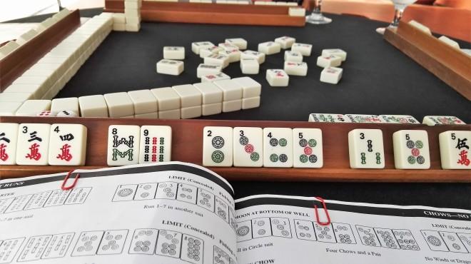 Partie de Mahjong