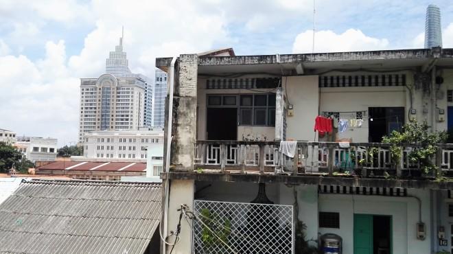 Vue depuis la terrasse du restaurant Secret Garden Saigon