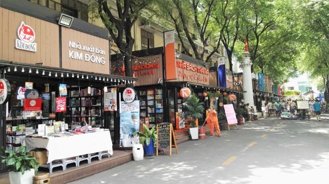 La rue des livres à Saigon, Ho Chi Minh, Vietnam