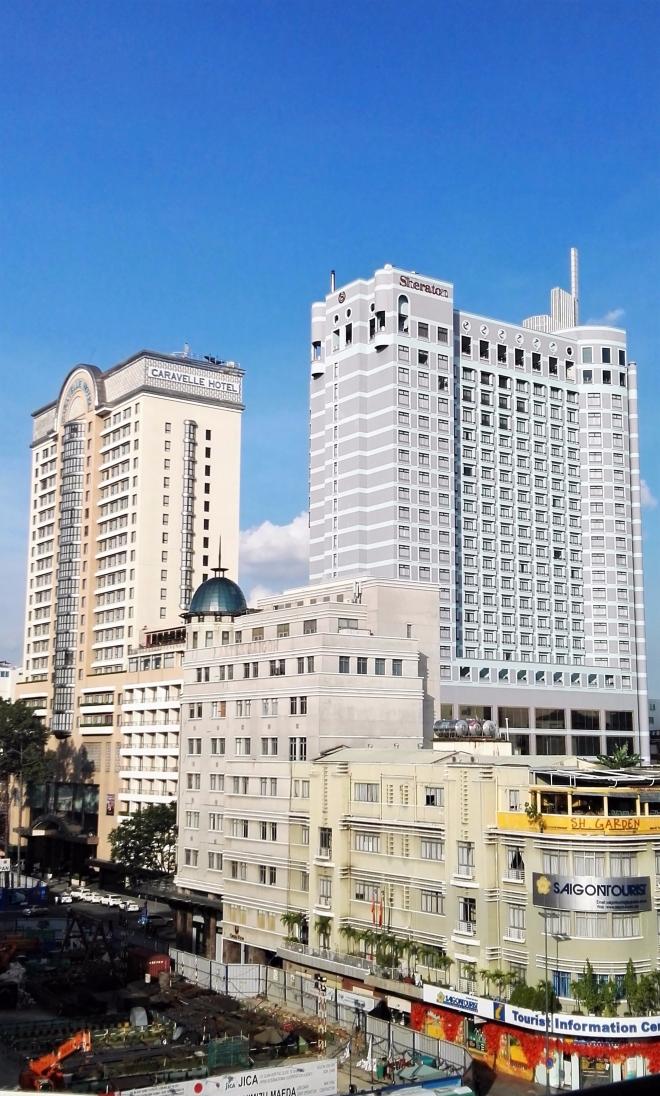 Vue depuis le rooftop de l'hotel Rex Ho Chi Minh Vietnam