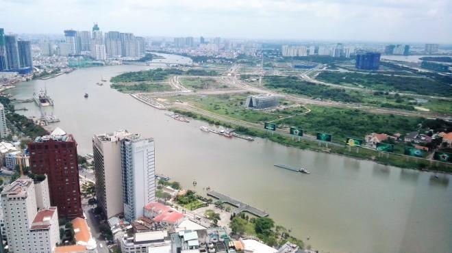 Vue de Saigon depuis la tour Bitexco, Vietnam