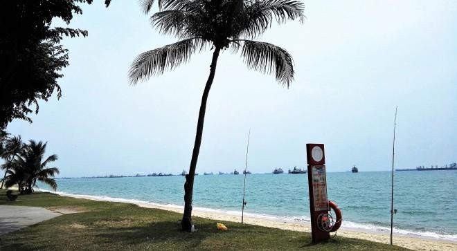 Bord de mer à Singapour, près de Katong, Marina