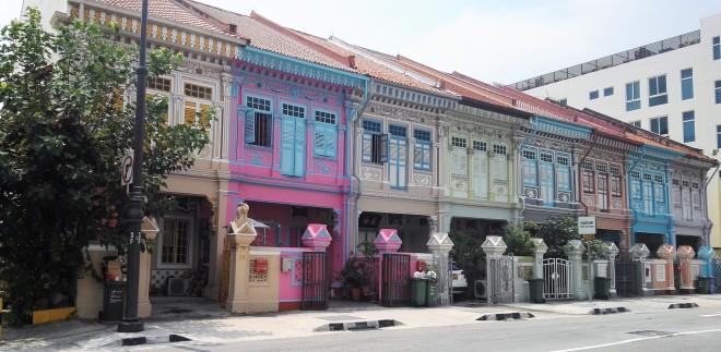 La rue Koon Seng Road dans le quartier de Katong à Singapour