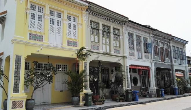 Rue du quartier de Katong, Singapour