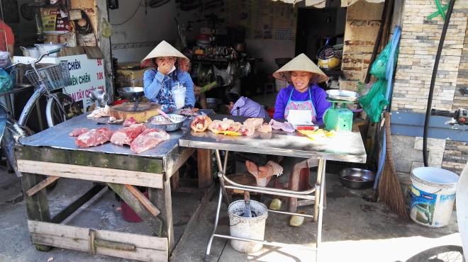 Etal de viande de Thao Dien Saigon D2