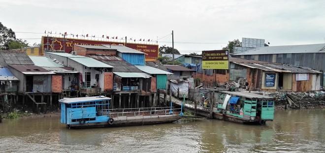 Bac sur le delta du Mekong Vietnam