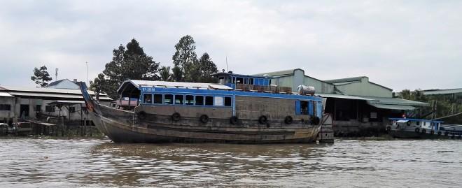 Bateau sur le Mekong Vietnam
