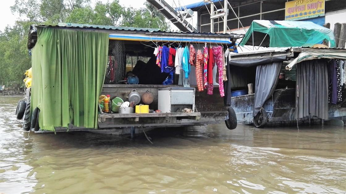Bateau maison du Mekong, Vietnam