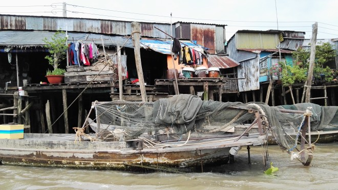 Maison au bord du Mekong Delta du Mekong Vietnam