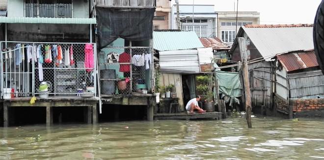 Vie au bord du Mekong Vietnam