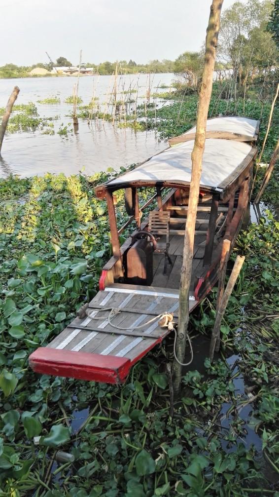 Bateau à moteur visite Mekong, Vietnam