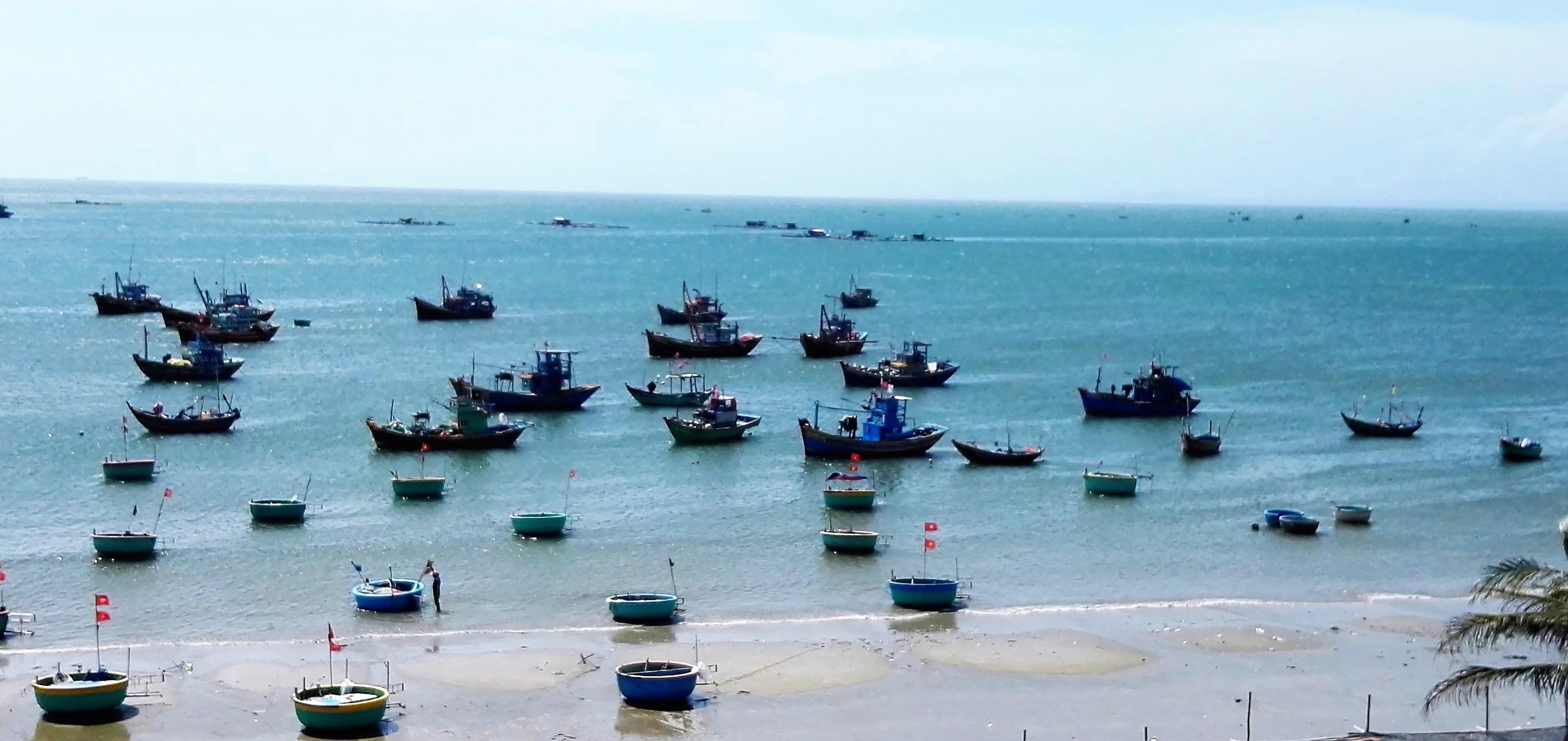 Bateaux de pêcheurs a Mui Ne Vietnam