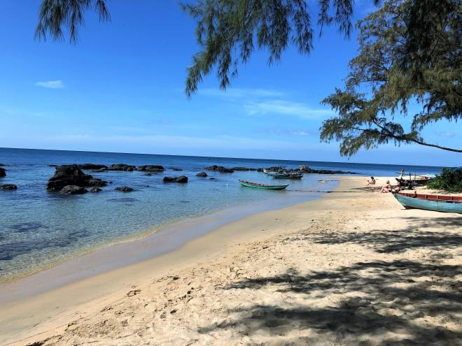 A l ombre sur Ong Lang Beach à Phu Quoc