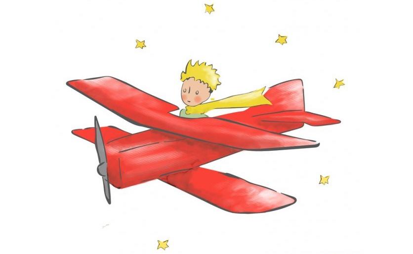 Avion petit prince bébé à bord