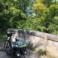 Escale en vélo à Chantilly sur l'avenue Paris-Londres